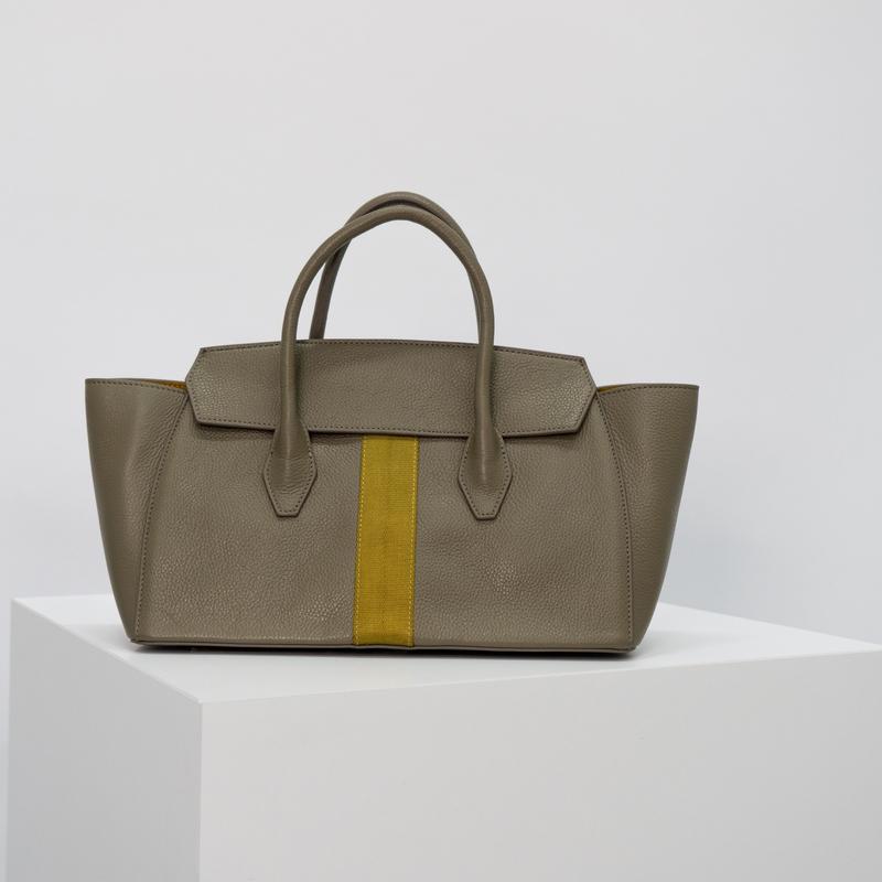 Dual Look Grey Work Bag With Webbing