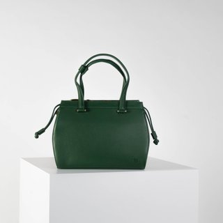 Vecto Gusset Bag in Emerald with Olive Gusset