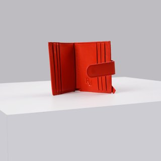 Scarlet red Pacto leather wallet